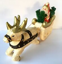 Frontgate Collection Christmas Santa Sleigh Reindeer Holiday Collection Decor