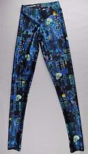 BlackMilk Blue Skull Skeleton Painted Leggings Yoga Pants, XXS