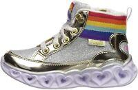 Skechers Kids' Heart Lights Sneaker, Gold, Size  A13e