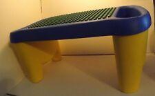 1998 Lego Duplo Portable Building Lap Desk Table w/ Side Pocket Storage EUC