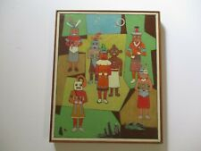 PAINTING ABSTRACT CUBIST EXPRESSIONISM MODERNISM VINTAGE 1960'S INDIAN KACHINA
