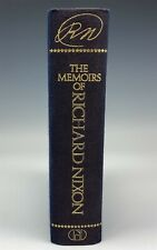 Hand Signed by President Richard Nixon The Memoirs of Nixon 1st Printing Book