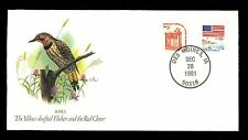 Commemorative Cover State Songbirds Iowa IA Yellow-shafted Flicker Red Clover