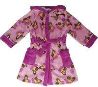 Girls Disney Princess Belle Dressing Robe Gown Size 2-3,3-4,5-6,7-8 Years