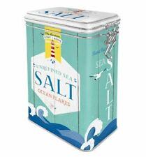 Retro SEA SALT Flakes 3D CLIP TOP STORAGE TIN Cookie Jar