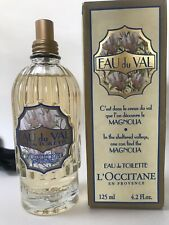L'Occitane Eau Du Val Perfume 125ml Magnolia EDT Classic Decorative Bottle Rare