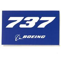 Boeing 737 Aufkleber blue Boeing Sticker