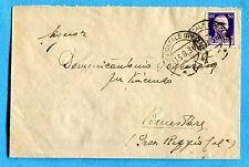1938 UFFICIO POSTALE SPECIALE 5 guller del 15.08.38 su IMP.c.50 (239974)