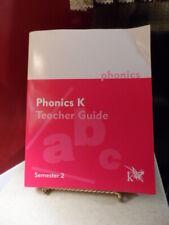 K12 Book Homeschool Phonics K Teacher Guide Semester 2 * Book # 21005