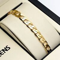 "Men's/Women's Bracelet 8"" Chain 18K Yellow Gold Filled 7mm Fashion Link"