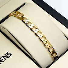 "Charms Bracelet 8"" Men's/Women's Chain 18K Yellow Gold Filled 7mm Fashion Link"