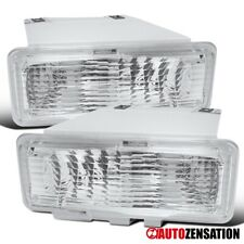 For 94-97 Chevy S10 Blazer GMC Sonoma Jimmy Clear Bumper Lights Signal Lamps