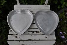 2 x heart shaped Cake Tins
