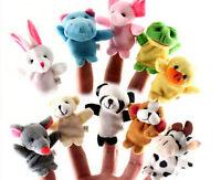 10X Farm Zoo Animal Finger Puppets Toys Boys Girls Babys Party Bag Filler HGUK