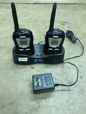 Pair of Cobra Clear Call FRS 80 Walkie Talkies 2 way Radios with Charging Dock