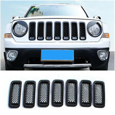 7x Front Grill Mesh Cover Grille Insert Kit Black For 2011-2016 Jeep Patriot