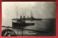Kaiserliche Marine Foto AK 1. WK Schiff Rheinland nach der Strandung  ( 66682