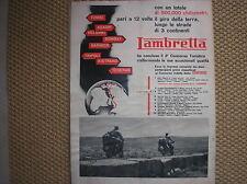LAMBRETTA CONCORSO TURISTICO COVER COPERTINA 1952 ADVERTISING PUBBLICITA REKLAME