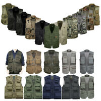 Mens Military Tactical Army Multi-pockets Vest Outdoor Camping Hunting Waistcoat