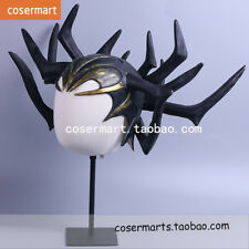 New Thor 3 Ragnarök Hela Latex Mask Helmet Black Horn Hat Adult Cosplay Prop
