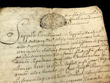 1725 Old Handwritten Document