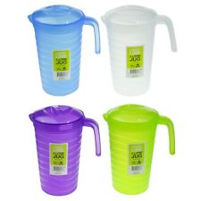 4 pcs Plastic Water Jug Set with Lid 2L Water Pitcher For Fridge BPA FREE