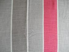 85cm VILLA NOVA Delaware Stripe Raspberry curtain fabric remnant