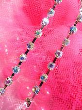 "JB148 Aurora Borealis Elegant Rhinestone Chain Sewing Trim 1/8"" (JB148-cab)"