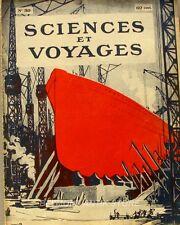 Sciences et voyages n°30 -1920 - Carthage - Les gros serpents - Ballons cerfs vo