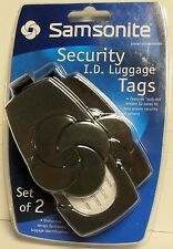 Samsonite Security I.D. Luggage Tags - Set of 2, BRAND NEW FACTORY SEALED