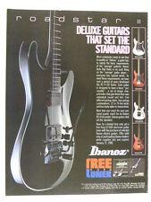 vintage magazine advert 1986 IBANEZ ROAD STAR