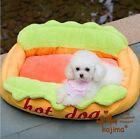 New Cute Cozy HOT DOG Shape Pet Dog Cat Sofa Bed House Puppy Kitten Yellow S