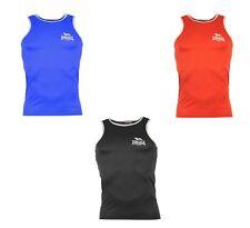 Mens Lonsdale Boxing Vest For Sale - Rrp £16.99 - Red/Black/Blue - Sale 10% Off