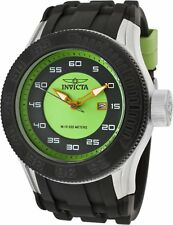 Invicta Men's 11942 Pro Diver Green and Black Dial Black Polyurethane Watch