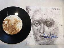 Eddie Vedder signed Fan Club 45 record LP coa + Proof! Pearl Jam autographed HOF