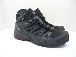Salomon Men's X ULTRA 3 MID GTX Hiking Boots Black/India Ink/Monument 12M