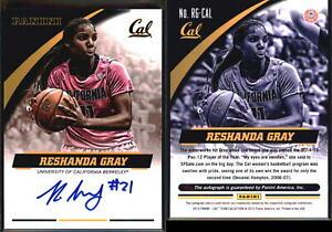 2015 Panini Collegiate Cal Bears Reshanda Gray Auto RC Autograph WNBA LA Sparks