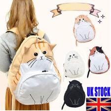 Women Cat Backpack Student Rucksack Book School Travel Hiking Girl Handbag Bag