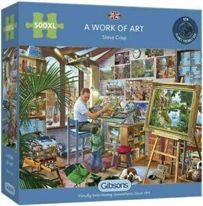 Gibson A WORK OF ART 500XL Piece Jigsaw Puzzle