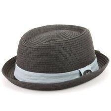 Chapeaux noirs en paille pour homme