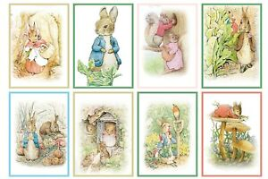 PETER RABBIT (A)  - 2 x A4 SHEETS OF CARD TOPPERS -  SCRAPBOOKING - 250GSM