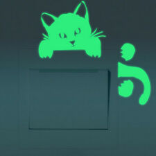 Glow in the Dark Switch Sticker For Light Switch DIY Cat Wall Decor Decal Art