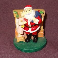 "Santa Claus Figurine Little Girl Whispering in Ear 2"" Table Top"