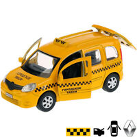 Renault Kangoo Diecast Metal Model Car Russian Taxi Toy Die-cast Cars
