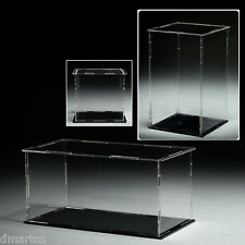 Size 14cm x 14cm x 14cm Acrylic Plastic Display Case Box Dustproof Self-Assembly
