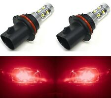LED 50W 9004 HB1 Red Two Bulbs Head Light Single Beam Show Lamp Off Road OE