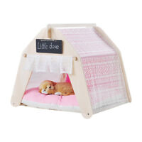 PLAYDO Movable Cats Summer Hut  Kennel Dogs House Puppy Pets Teepee Tent Cushion