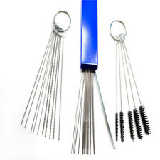 Carburetor Cleaning Tool Needles & Brushes Set For ATV Motorcycle Carb Jet Clean