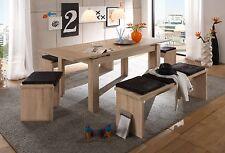 Esstisch Zip, Küchentisch, Ausziehtisch, Tisch, 140x80 cm, Eiche Sägerau, Holz