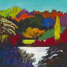 Caroline Cerdà: Bords de Seine colorés Fertig-Bild 50x50 Wandbild